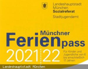 Münchner Ferienpass 2021/2022 Flyercover